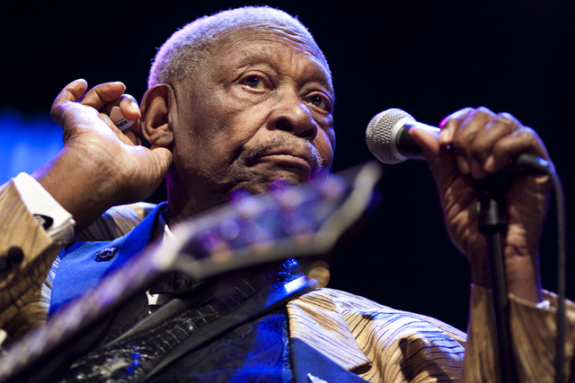 U.S. blues legend B.B. King performs onstage during the 45th Montreux Jazz Festival in Montreux July 3, 2011. (REUTERS/Valentin Flauraud)