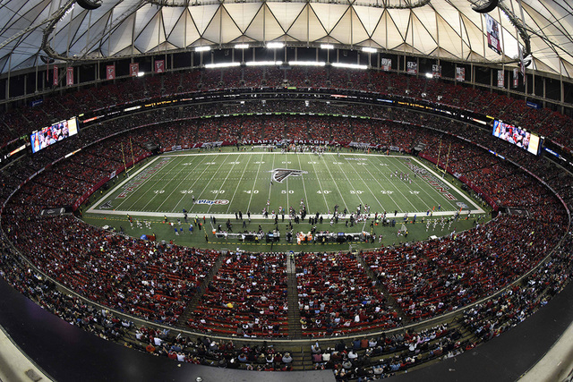 Nov 30, 2014; Atlanta, GA, USA; A general view of the stadium during the game between the Atlanta Falcons and the Arizona Cardinals during the first quarter at the  Georgia Dome. (Dale Zanine-USA  ...