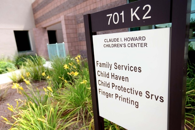 The sign at the entrance to the Child Haven campus is seen in this file photo. (Jessica Ebelhar/Las Vegas Review-Journal File)
