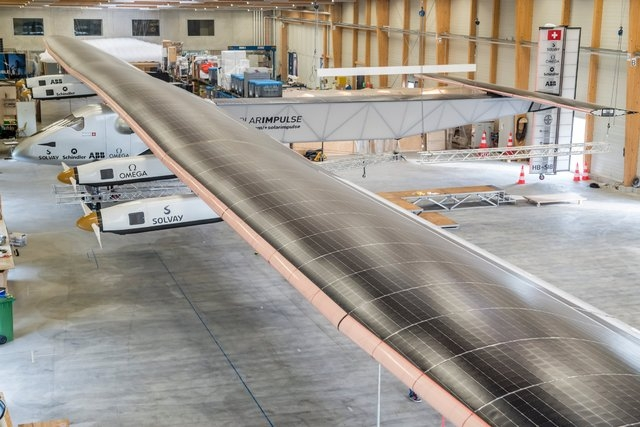 The Solar Impulse 2 aircraft's wings stretch for a massive 236 feet, while its weight stands at just 2 1/2 tons, lighter than a large SUV. (Solar Impulse/CNN)