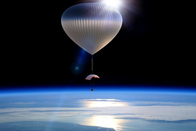 Zero2infinity is one of two organizations hoping to use pressurized capsules suspended beneath helium balloons as a way to take tourists into near space. (Courtesy, CNN)