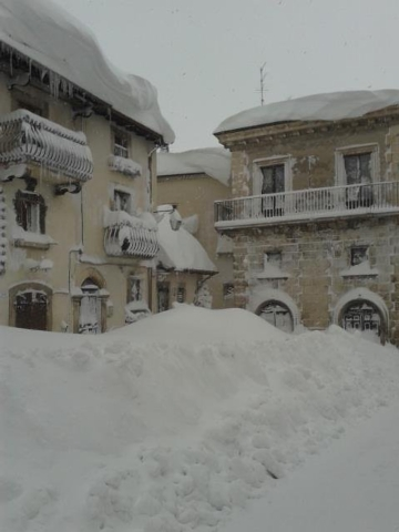 The Italian village of Capracotta received 100.8 inches (256 centimeters) of snow on Thursday, March 5, 2015, setting the all-time mark for most snow in 24-hours. The nearby city of Pescocostanzo, ...