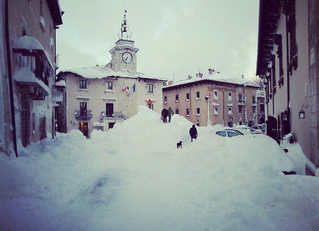 The Italian village of Capracotta received 100.8 inches of snow on Thursday, March 5, 2015, setting the all-time mark for most snow in 24-hours. The nearby city of Pescocostanzo, about 21 miles aw ...