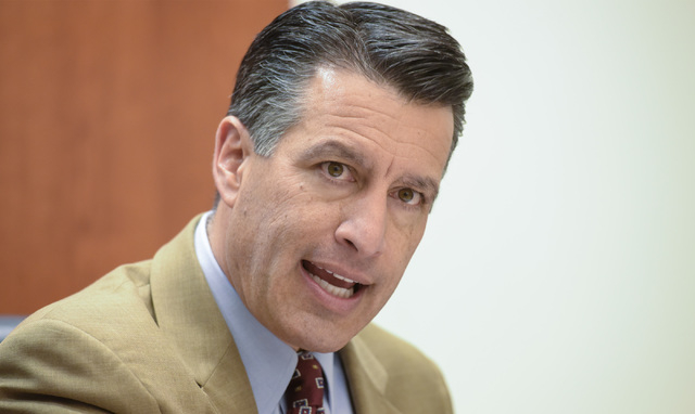 Governor Brian Sandoval speaks to the Review-Journal editorial board on Friday, Jan. 30, 2015. (Mark Damon/Las Vegas Review-Journal)