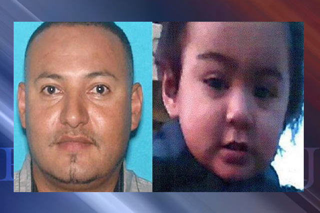 An Amber Alert was issued Monday for 1-year-old Jayden Santiago, right, who police say may be with his father, 37-year-old Giovany Santiago-Enriquez. (Los Angeles Police Department)
