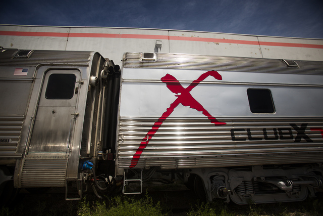 Club X Train as seen Thursday, April 24, 2014 on a track near Martin Luther King Boulevard and Bonanza Road.  (Jeff Scheid/Las Vegas Review-Journal)