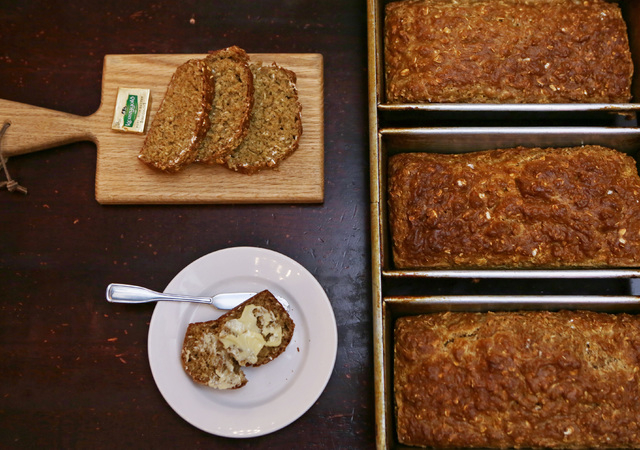 Slices and loaves of Irish soda bread are shown at Ri Ra Irish Pub at Mandalay Place Thursday, March 5, 2015, in Las Vegas. Loaves of the traditional Irish bread are made in-house. (Ronda Churchil ...