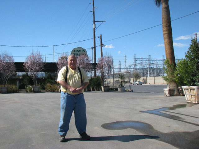 Gary Davis Poses In The Parking Lot Of Nursery Las Vegas March