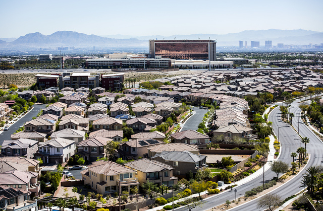 A view of Summerlin at Desert Foothills Drive near Charleston Boulevard on Friday, March 27, 2015. The mastered-planned community on the western edge of Las Vegas was launched 25 years ago. (Jeff  ...