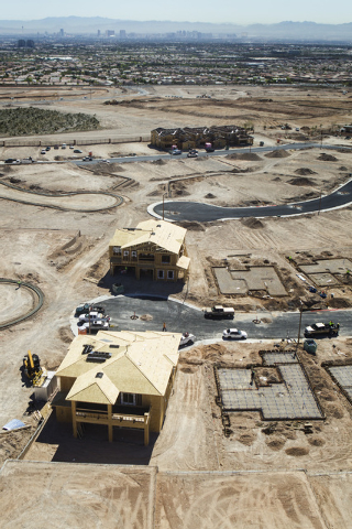Construction at The Paseos in Summerlin  is seen Friday, March 27, 2015. The mastered-planned community on the western edge of Las Vegas was launched 25 years ago. (Jeff Scheid/Las Vegas Review-Jo ...