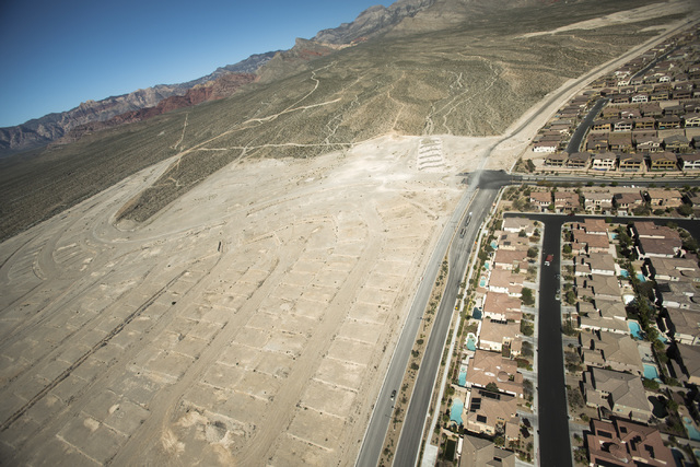The Paseos in Summerlin  is seen Friday, March 27,2015. The mastered-planned Summerlin community on the western edge of Las Vegas was launched 25 years ago. (Jeff Scheid/Las Vegas Review-Journal)  ...