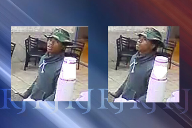 Las Vegas police are asking for the public's help identifying a man they said robbed a Roberto's Taco Shop on Sunday night. (Courtesy)