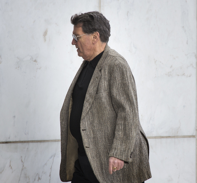 Weston Coolidge, former chairman and president of National Audit Defense Network, arrives for opening statements in the tax fraud trial on Wednesday, April 16, 2014. (Jeff Scheid/Las Vegas Review- ...