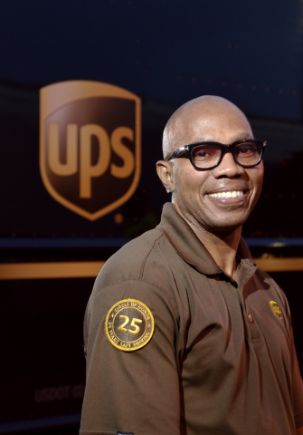 Bennie Harris Jr., a service provider for United Parcel Service, is shown at the company's Las Vegas Division Horizon Center delivery facility at 335 E. Arby Ave. in Las Vegas on Monday, March 23, ...