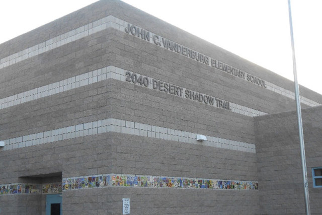John C. Vanderburg Elementary School is one of 11 schools the Clark County School District is switching to a year-round schedule. (Las Vegas Review-Journal file)