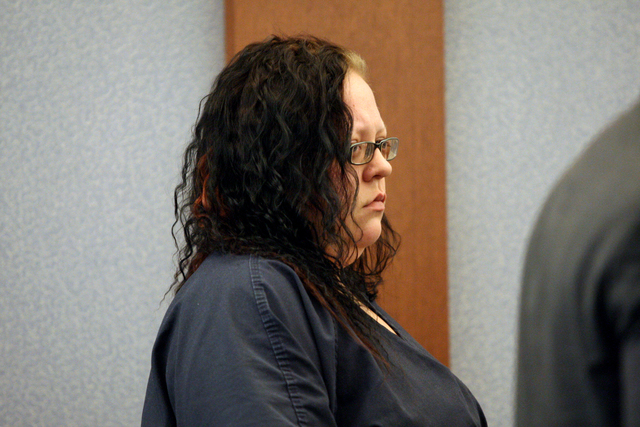 Standing before Judge Janiece Marshall, Jesse Vonstaden, the owner of four dogs that mauled a 65-year-old Las Vegas woman and her neighbor, agrees to plead guilty on Wednesday, March 11, 2015. (Mi ...