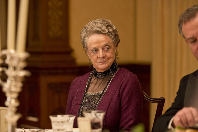 """Maggie Smith, who plays the Dowager Countess of Grantham in """"Downton Abbey,"""" says the next season will be her last on the PBS series. (Nick Briggs/Carnival Film & Television Limited 2013 for M ..."""