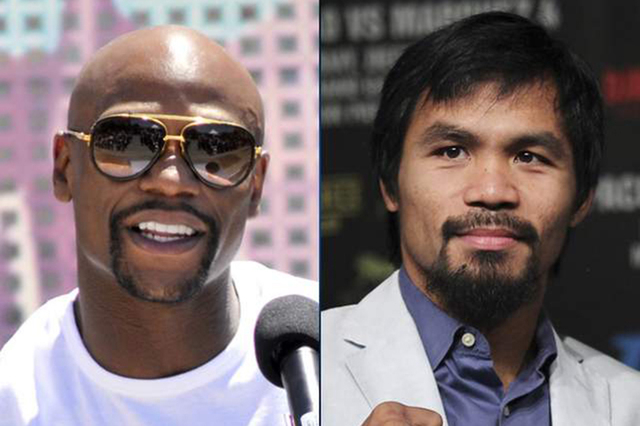 Floyd Mayweather and Manny Pacquiao. (Review-Journal File)