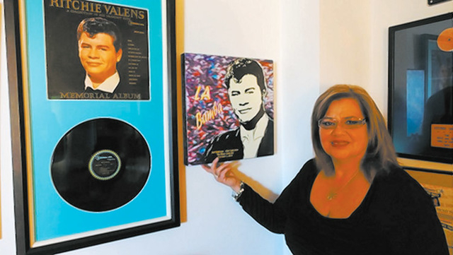 Ritchie Valens' sister Irma Valens Norton is surrounded by memories at her Regency Towers condo. (Norm Clarke/Las Vegas Review-Journal)