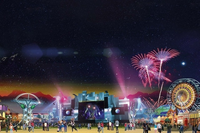 An artist's rendering shows stages from Rock in Rio as they might appear in Las Vegas. (Courtesy)