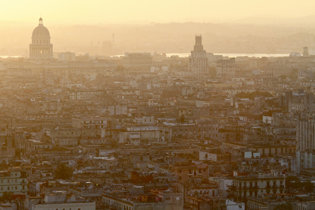 Sunrise over Havana's Capitolio building on Sunday, March 25, 2012 where the Ministry of Science, Technology and the Environment is located. (CNN)