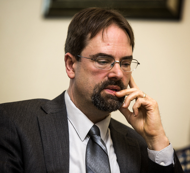 Clark County Family Court Commissioner Jon Norheim during an interview at Clark County Family Court on Friday March 13, 2015. Private professional guardians have been abusing the system and causin ...