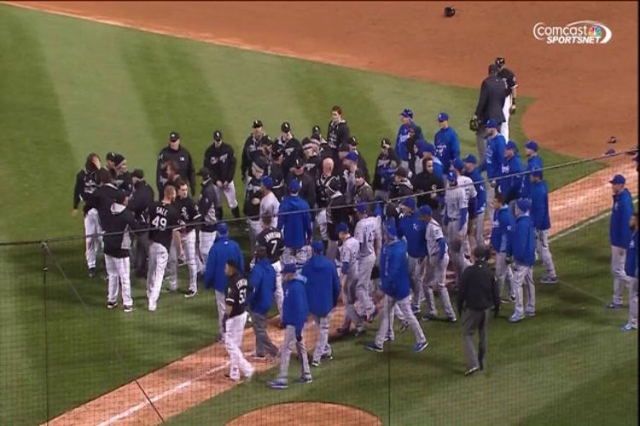 Surprising 5 Players Ejected After Royals White Sox Brawl Las Vegas Onthecornerstone Fun Painted Chair Ideas Images Onthecornerstoneorg