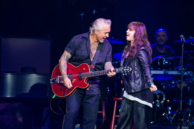 Pat Benatar & Neil Giraldo performs at The Joint at Hard Rock Hotel & Casino in Las Vegas, NV on April 18, 2015. (Courtesy, Erik Kabik)