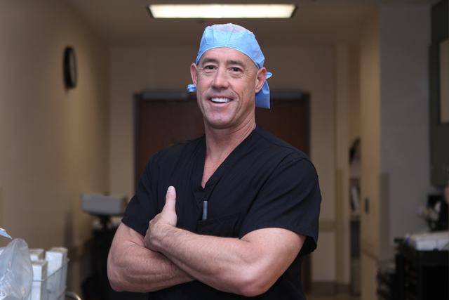 Orthopedic surgeon Dr. Michael Crovetti poses for a portrait following his 1,000th surgical procedure at the Coronado Surgery Center in Henderson, Monday, April 20, 2015. (Erik Verduzco/Las Vegas  ...