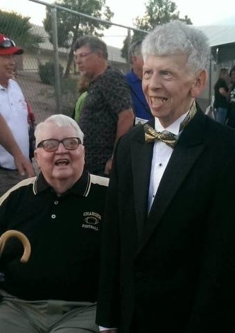 Luke Werner is seen with retired Clark High School football Coach Larry Barnson. (Courtesy, Rita Werner Allenye)