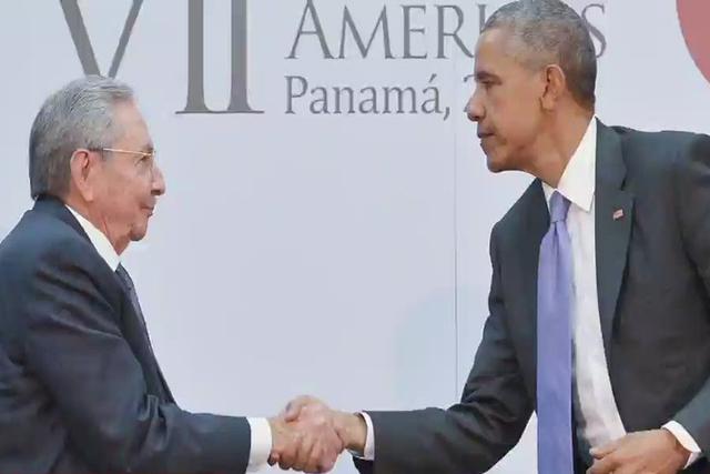 Raúl Castro and President Barack Obama. (CNN)