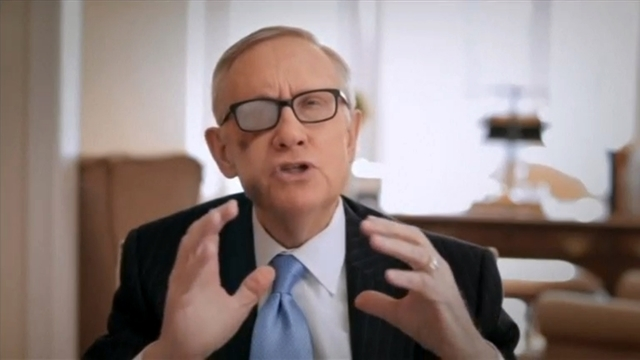 U.S. Senate Democratic leader Harry Reid, D-Nev., is pictured announcing that he will not seek re-election, in this still image taken from a video released in Washington, Friday, March 27, 2015. R ...