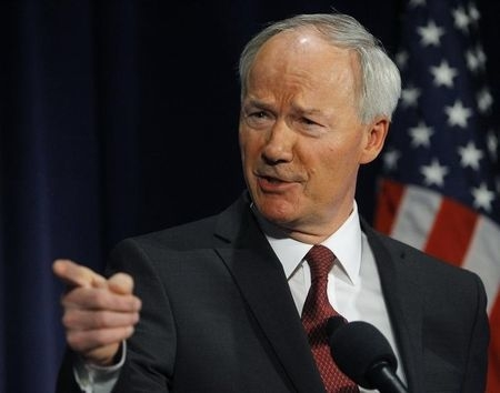 Arkansas Gov. Asa Hutchinson, shown in Washington, D.C., on April 2, 2013, said on Wednesday, April 1, 2015, he is sending the state's Religious Freedom Restoration Act back to the legislature f ...