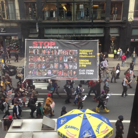 People in New York are joining in the Shut it Down protests against police brutality. Courtesy (Monica Johnson/Fresco News)