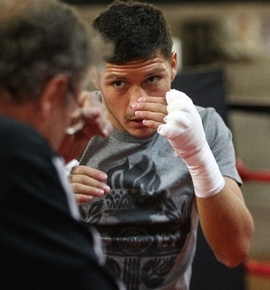 """Diego Magdaleno, shown working out with trainer/manager Pat Barry on March 26, made a """"business decision"""" in parting ways with Barry, with whom he had worked since he was 9 years old."""