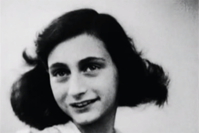 Anne Frank. Screengrab (YouTube)