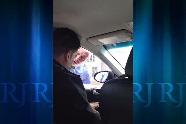 The driver's passenger, Sanjay Seth, uploaded the video to YouTube. (Screengrab, YouTube)