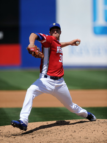 Las Vegas 51s pitcher Steven Matz delivers in the fourth inning of their minor league baseball game against the Fresno Grizzlies at Cashman Field in Las Vegas Sunday April 19, 2015. Las Vegas defe ...