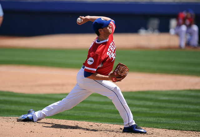 Las Vegas 51s pitcher Steven Matz delivers in the fifth inning of their minor league baseball game against the Fresno Grizzlies at Cashman Field in Las Vegas Sunday April 19, 2015. Las Vegas defea ...
