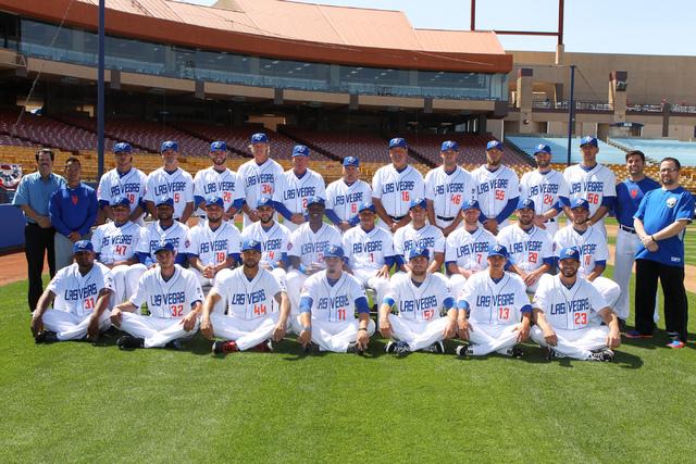 Las Vegas 51s players and staff pose for a team photo during media day at Cashman Field in Las Vegas Tuesday, April 7, 2015. (Erik Verduzco/Las Vegas Review-Journal) Follow Erik Verduzco on Twitte ...