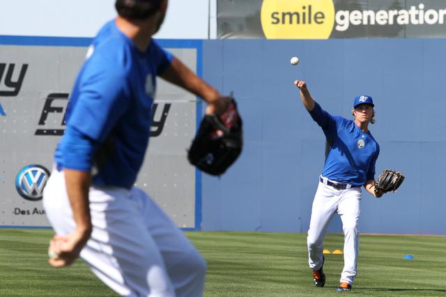 Las Vegas 51s Noah Syndergaard (34) throws a ball in practice during media day at Cashman Field in Las Vegas Tuesday, April 7, 2015. (Erik Verduzco/Las Vegas Review-Journal) Follow Erik Verduzco o ...