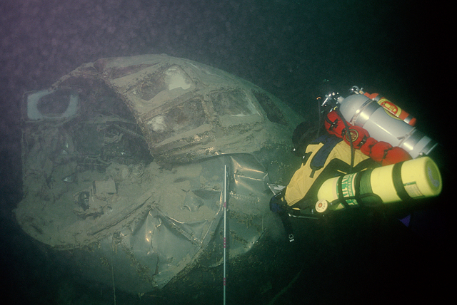 The National Park Service is offering scuba dives to research the B-29 bomber submerged in Lake Mead. The plane, which was instrumental in early Cold War technology, crashed into the Overton Arm i ...