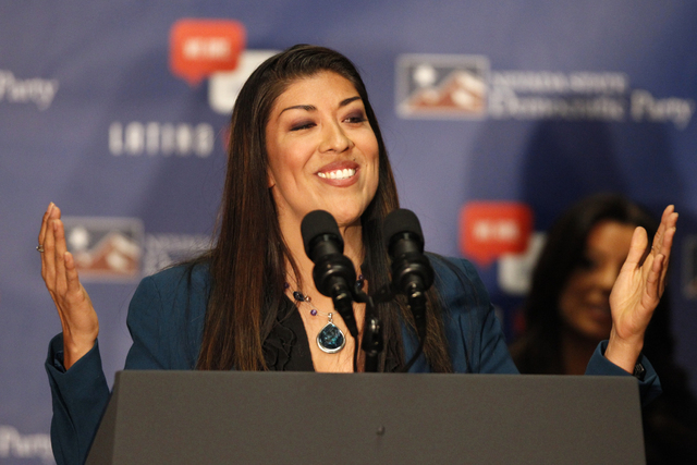 Former Assemblywoman Lucy Flores on Wednesday announced she's running for Congress, seeking a seat in Nevada's 4th Congressional District. (Erik Verduzco/Las Vegas Review-Journal file)