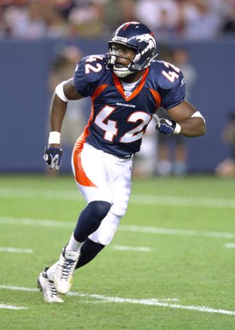 Former UNLV defensive back Sam Brandon in uniform for the Denver Broncos. (Courtesy of UNLV sports information department)