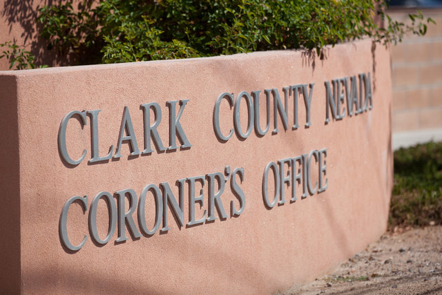 Clark County coroner's office. (Chase Stevens/Las Vegas Review-Journal)