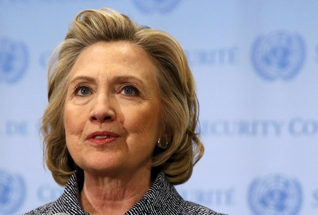 Former U.S. Secretary of State Hillary Clinton speaks during a news conference at the United Nations in New York in this March 10, 2015 file photo. (REUTERS/Mike Segar/Files)