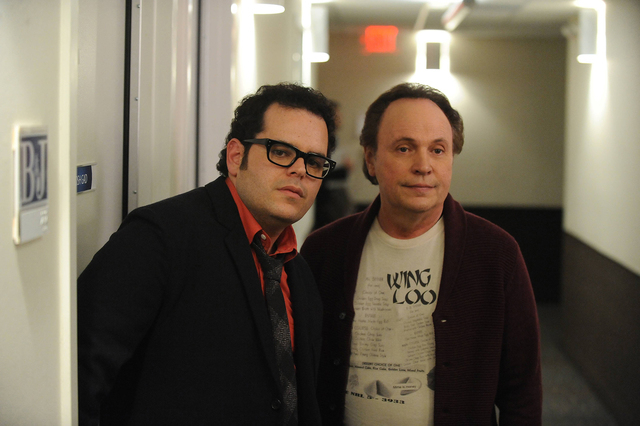 "Josh Gad, left, and Billy Crystal in ""The Comedians."" (Ray Mickshaw/FX)"