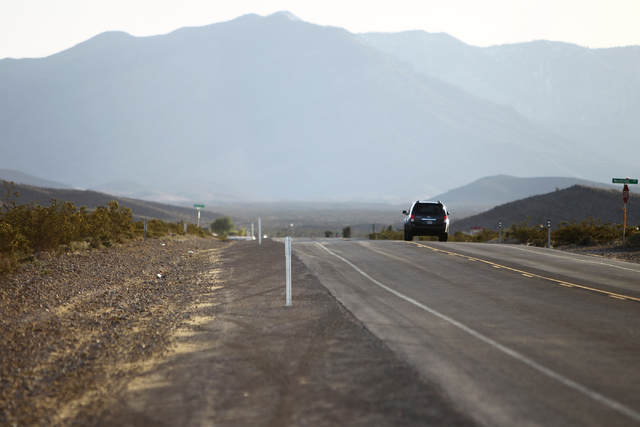 Kyle Canyon Road in Las Vegas is seen on Thursday, April, 9, 2015. Gary Gray, the husband of Clark County Commissioner Chris Giunchigliani, was killed in a car accident earlier today. (Erik Verduz ...