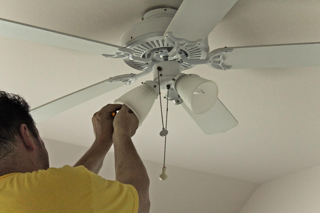 Ceiling fans can keep you comfortable and save cash las vegas photo by kellyp42morguefile aloadofball Choice Image