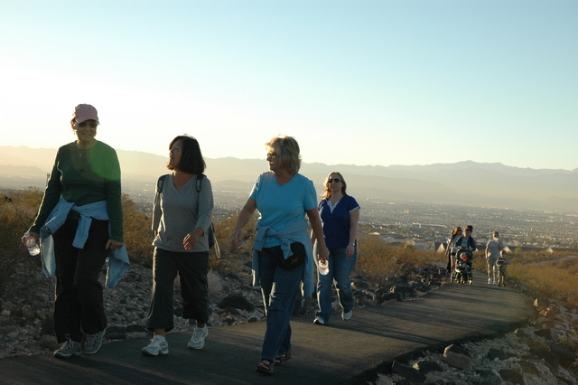 Henderson residents hike up the Anthem East Trailhead near Anthem Hills Park, 2256 N. Reunion Drive. (Special to View)